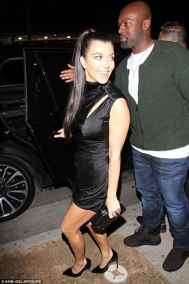 Kourtney Kardashian wears thigh-skimming LBD at Grammys after party