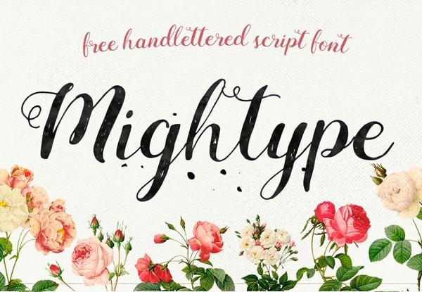 Brush font terbaik 2017 - Mightype – Free Brush Font