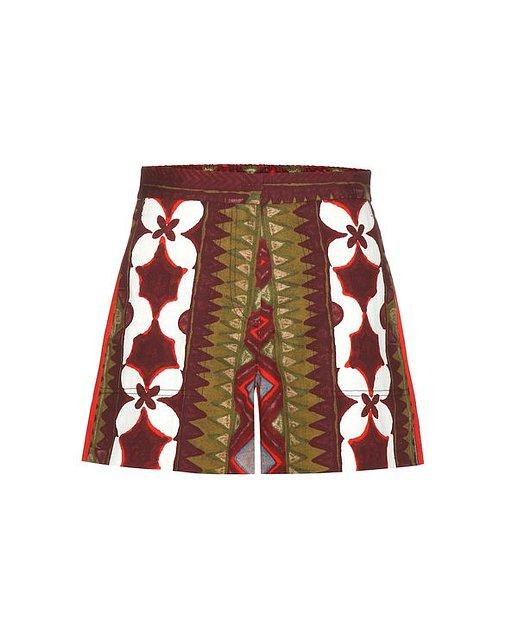 VALENTINO  Shorts aus Baumwolle und Leinen