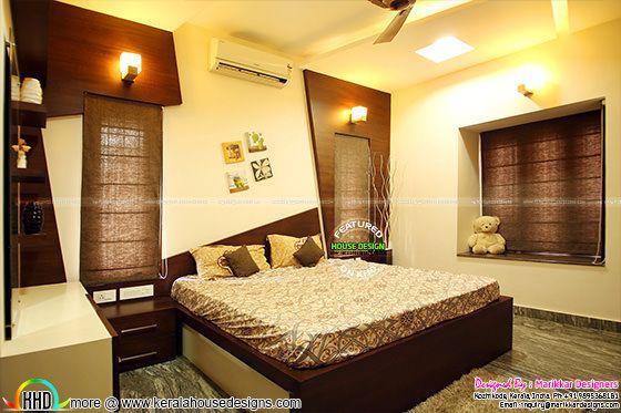 Furnished parents bedroom interior