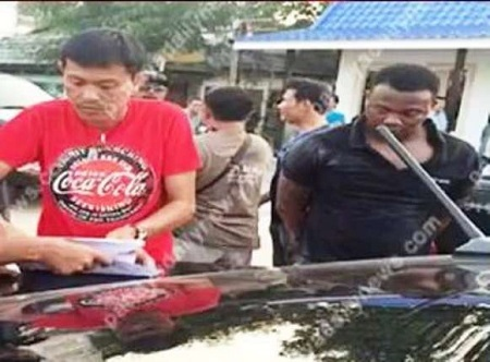 Nigerian Drug Dealer Arrested in Thailand After a Hot Chase by the Police (Photos)
