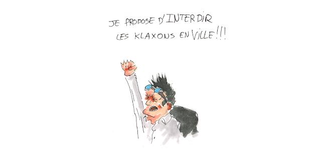 Kyopé s'ecrit : Je propose d'interdir les klaxons en ville, en dressant le poing
