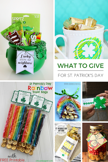 Easy gift ideas for family, friends, neighbors and teachers on St.Patrick's day!