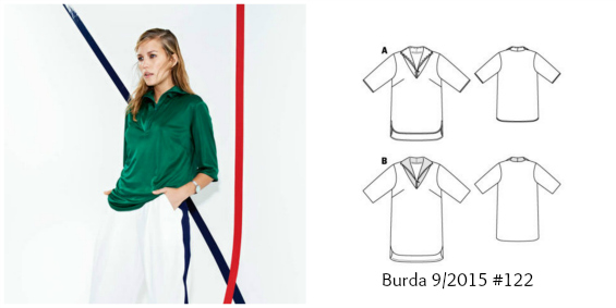 Burda 9/2015 #122 referee shirt www.loweryourpresserfoot.blogspot.com