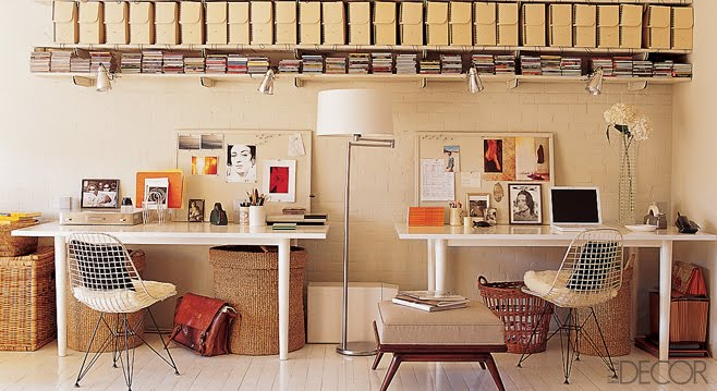Home Office Space Ideas: There She Blogs: Split Decision: Shared Home Office Space