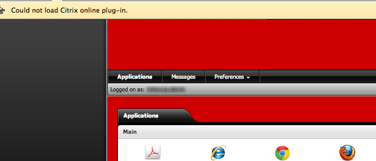 Could not load Citrix online plug-In (Google Chrome for Mac) ~ Tips