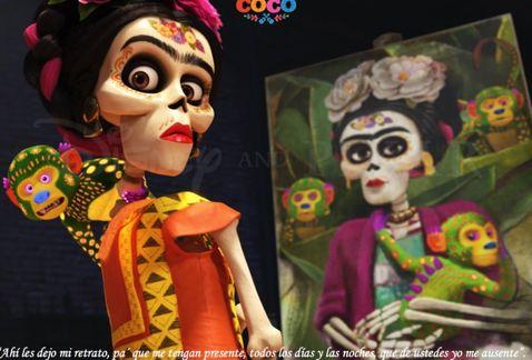 Hommage à Frida Kahlo dans Coco Disney