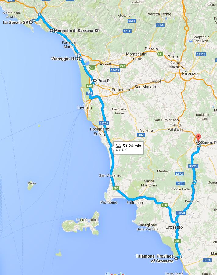 007 TRAVELERS 007 Travel story La Spezia Pisa Talamone ITALY 2015