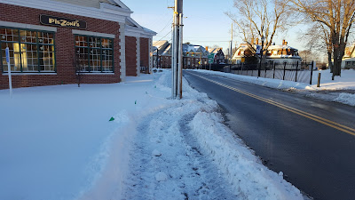 evidence that the DPW does get to clear the sidewalks of snow.