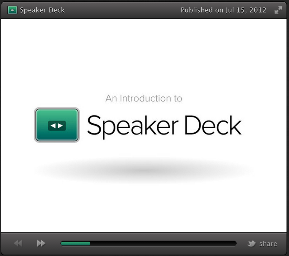 speaker deck a good presentation tool for teachers educational