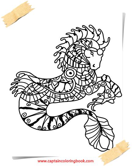 Pferde Mandala Malbuch-Horses Mandala Coloring Book - Free Mandala