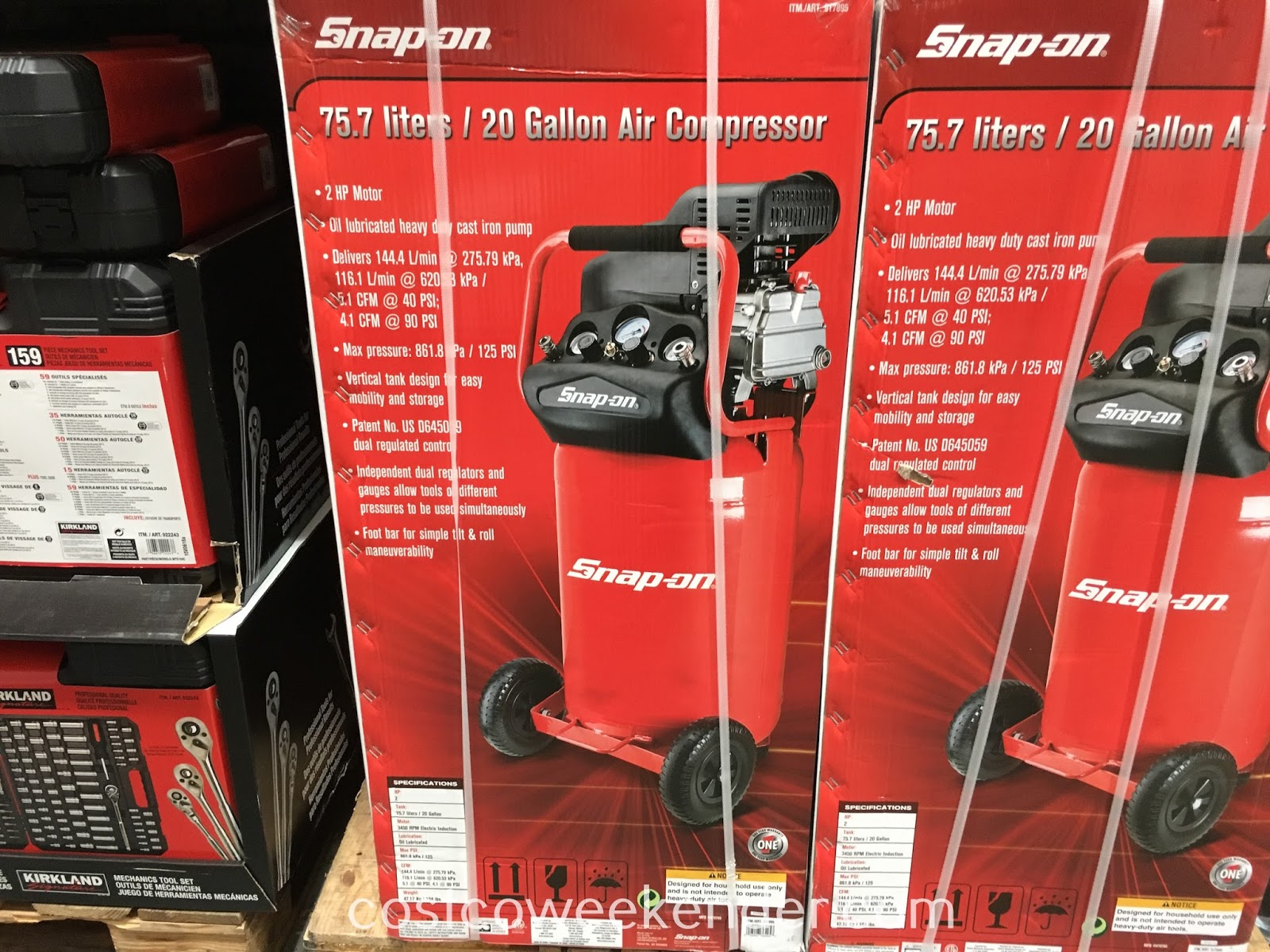 Getting work done around the house is easier with the Snap-On 20 Gallon Air Compressor