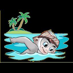 Logo dan Lambang Cabang Olahraga PON Jabar 2016 Renang Perairan Terbuka