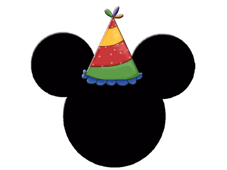 mickey and minnie heads with party hats oh my fiesta