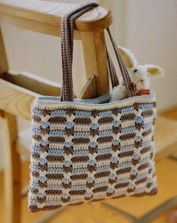 crochet bag, easy