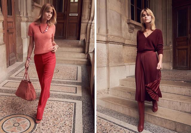 Красный + розовый и бордовый в одежде