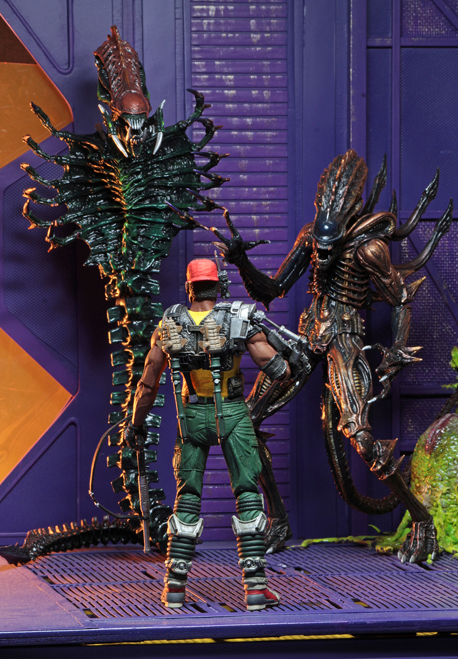 """Although there is still a long way to go until the estimated date of  release -October 2018- NECA´s """"Aliens series 13"""" preview images makes us  green with ..."""