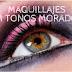 Maquillajes en tonos morados