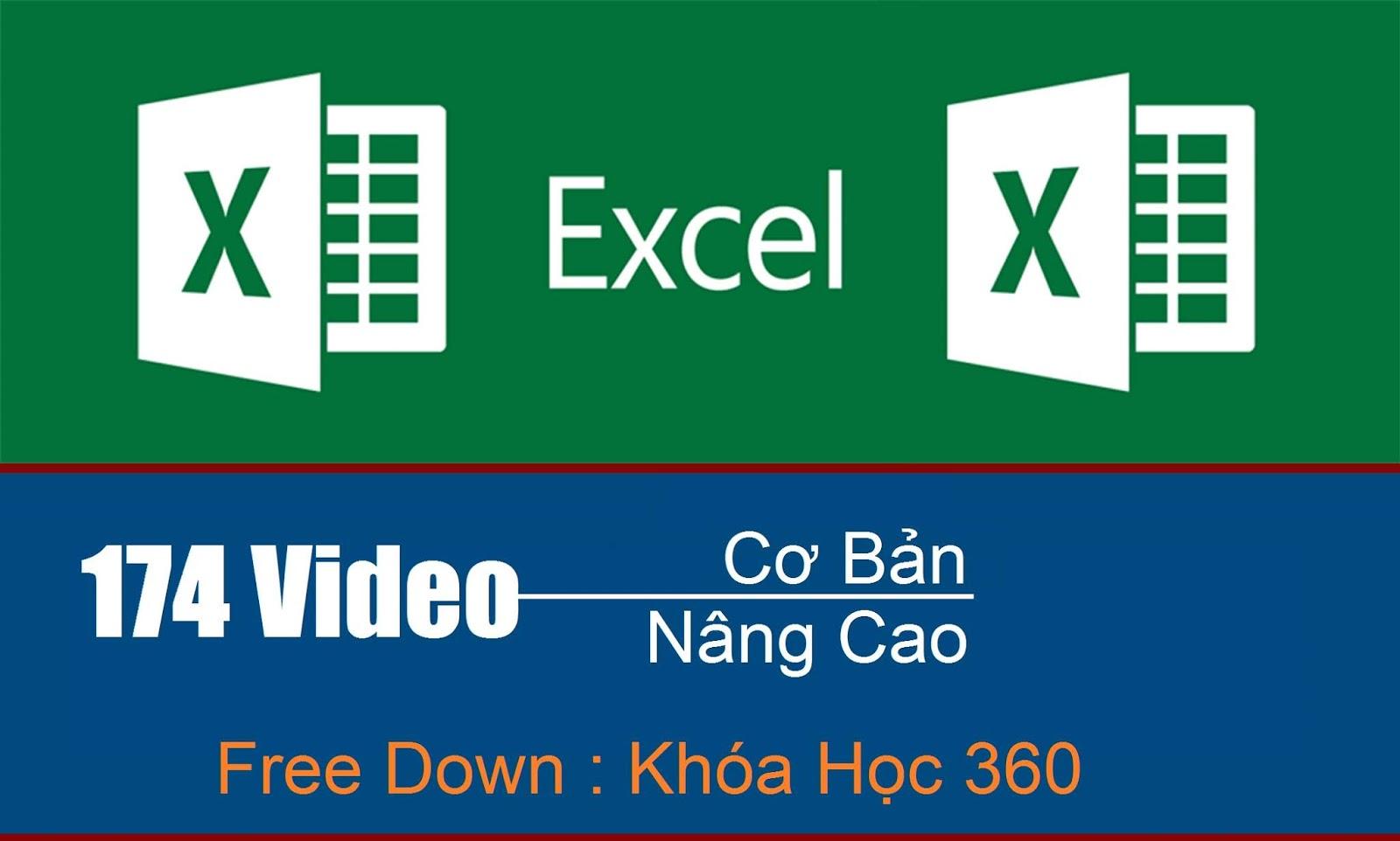 Khóa Học Microsoft Excel Full 174 Video và bài tập chi tiết toàn tập miễn phí 1