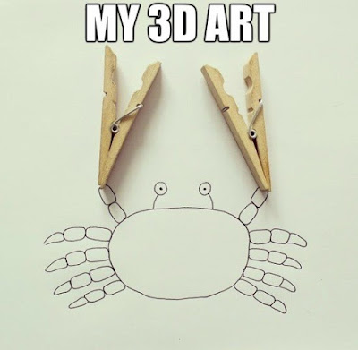 Funny crab drawing