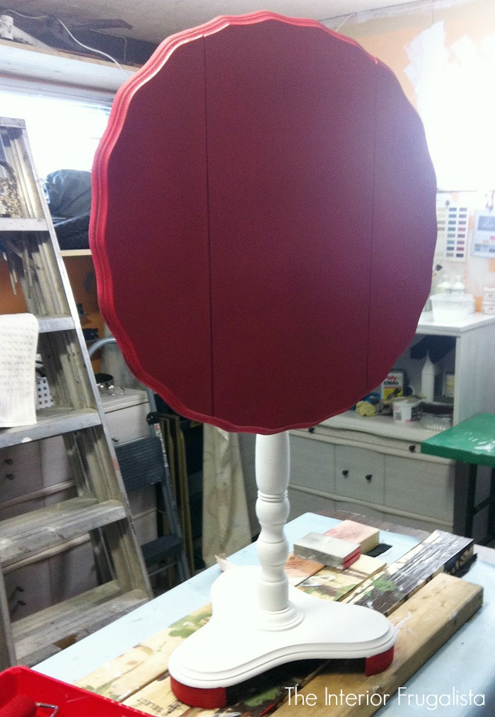 Curbside Tilt Top Table Red Top