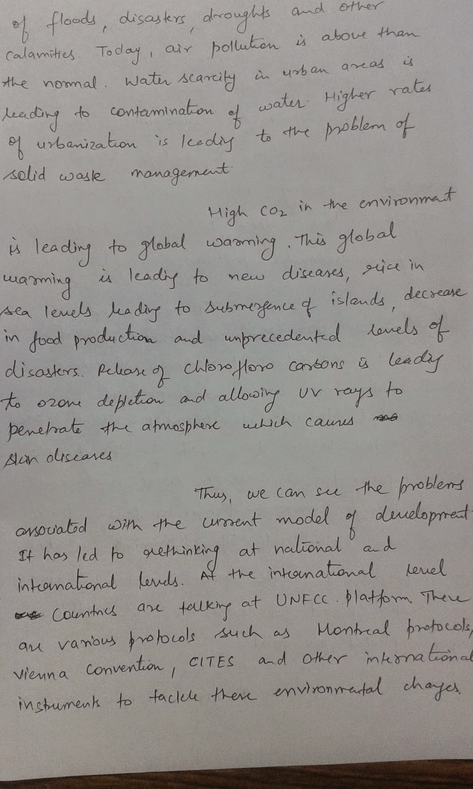 Essay on environmental problems