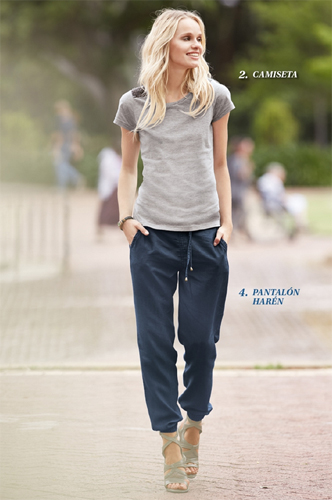 pantalón harén y camiseta mujer lidl