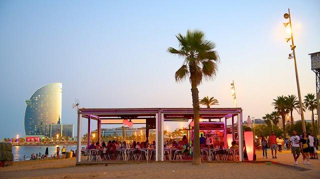 Serviços na Praia Barceloneta