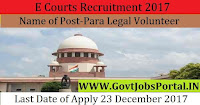 Jharkhand District & Sessions Judge E Courts Recruitment 2017– 179 Para Legal Volunteer