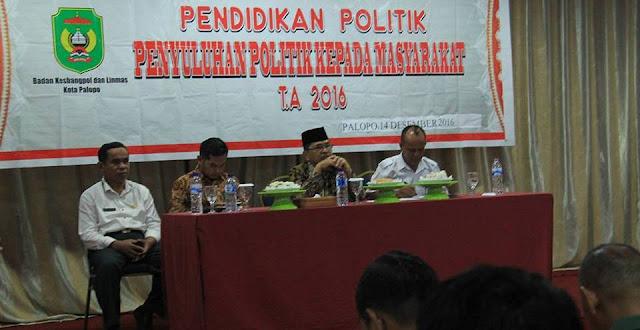 Upayakan Pilkada Berkualitas, Kesbangpol-KPU Palopo Gelar Penyuluhan Politik