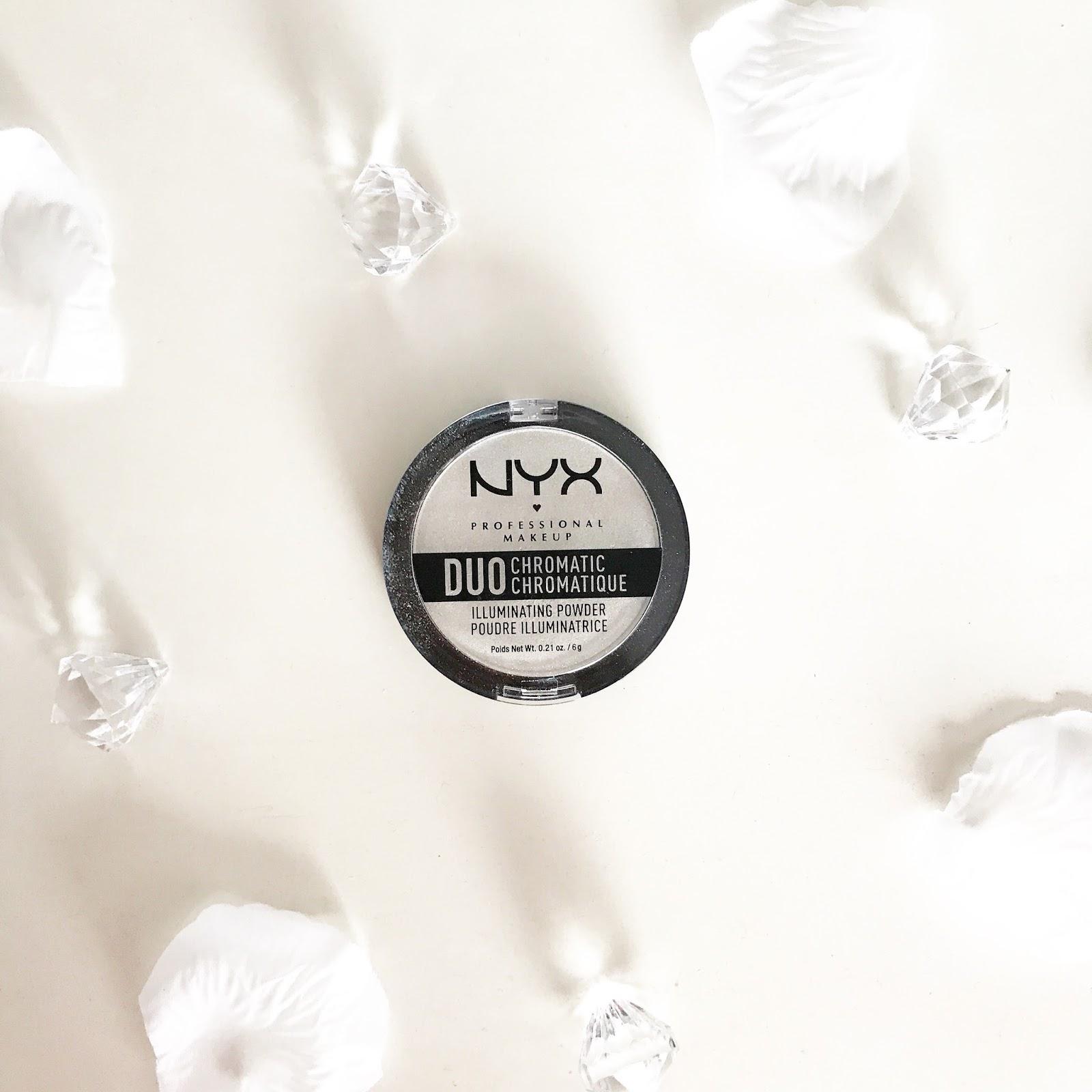 NYX Twilight Tint Duo Chromatic Illuminating Powder Review