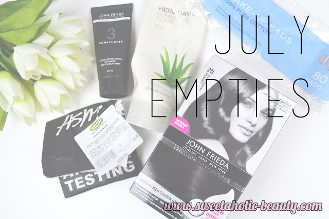 July Empties - Sweetaholic Beauty