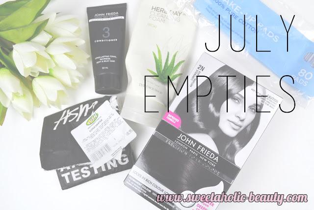 July Empties - Sweetaholic Beauty