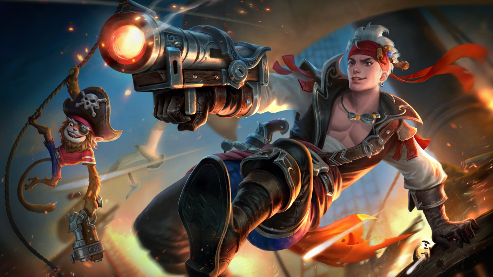 Wallpaper Mobile Legends Claude Starlight Skin November 2018 - Plunderous Pirate