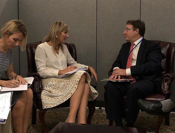 Queen Maxima met with United Nations Secretary-General Antonio Guterres