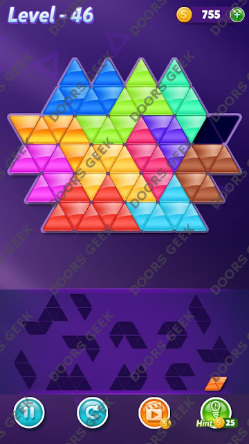 Block! Triangle Puzzle Grandmaster Level 46 Solution, Cheats, Walkthrough for Android, iPhone, iPad and iPod