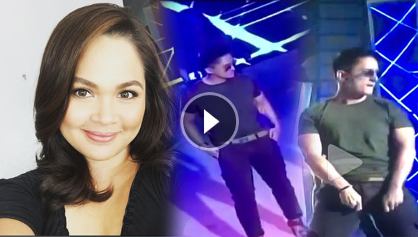 Judy Ann Santos reacts to husband Ryan Agoncillo dancing while in heels