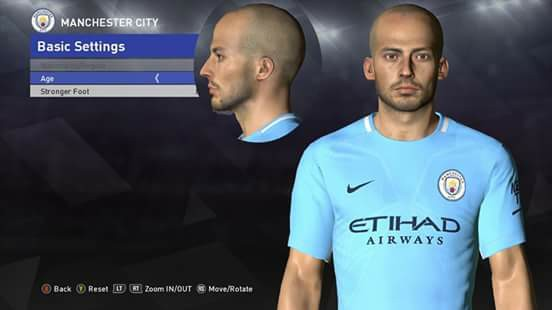 PES 2017 David Silva Face by Ahmed Tattoo & Facemaker