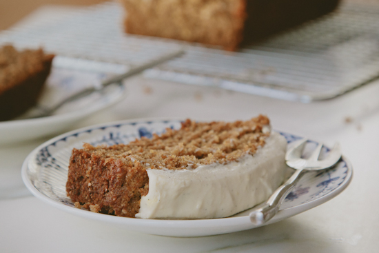 carrot cake with cream cheese and honey frosting