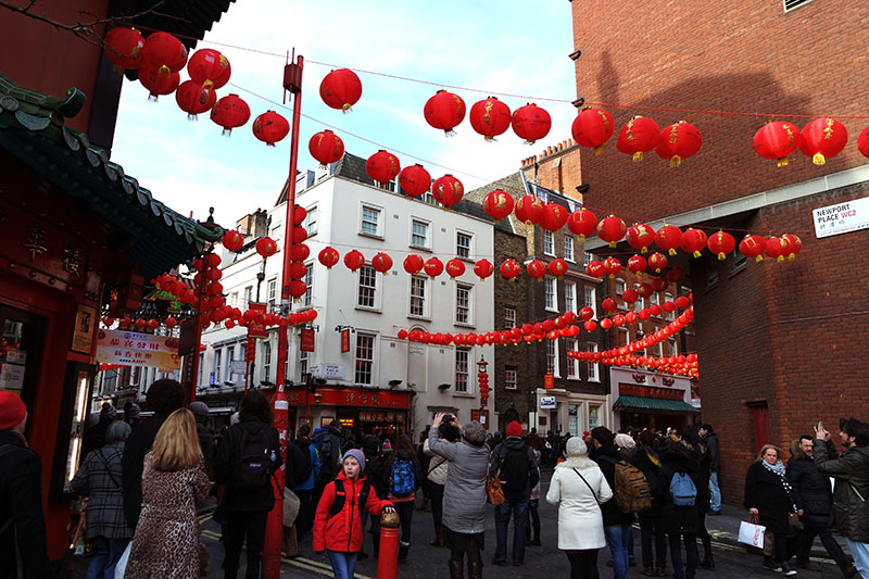 Red lantern, Chinese New Year, London, Trafalgar Square, Chinatown,celebrations, restaurant, parade, dragon, colourful