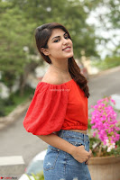 Rhea Chakraborty in Red Crop Top and Denim Shorts Spicy Pics ~  Exclusive 121.JPG