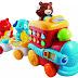 Музыкальные поезд с фигурками животных обучающая игрушка