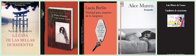 Yasunari Kawabata, Piedad Bonnett, Lucia berlin, Alice Munro, Luis Alberto de Cuenca