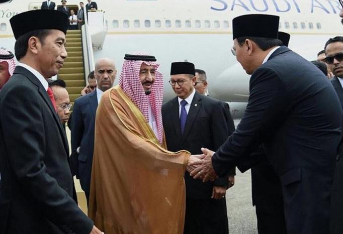 Ahok salaman dengan Raja Salman (Twitter @Basuki_BTP)