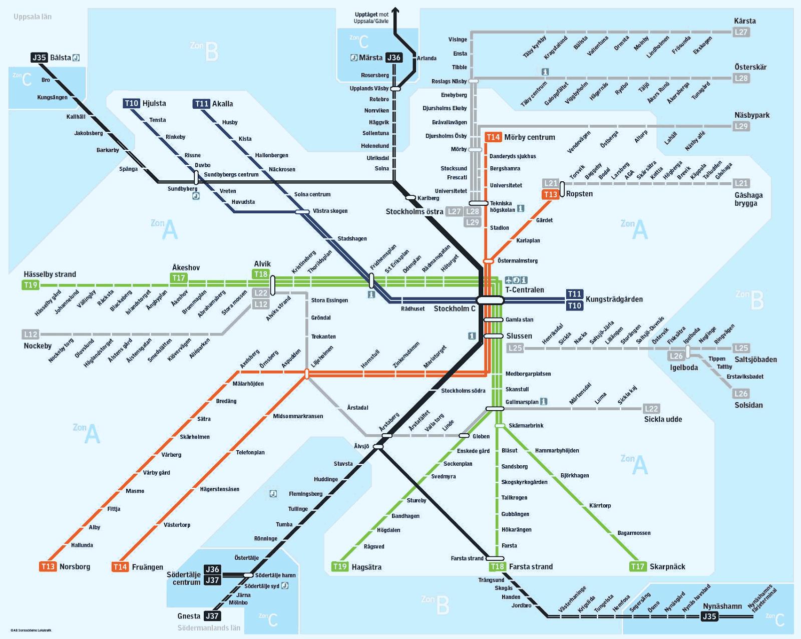 sl karta Ulf Janssons Geoblogg: SL karta ny igen sl karta