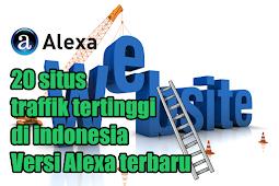 20 situs traffik tertinggi di indonesia Versi Alexa terbaru