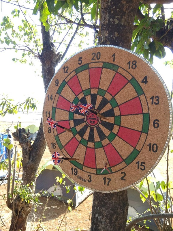 Dart Game at pawna camping