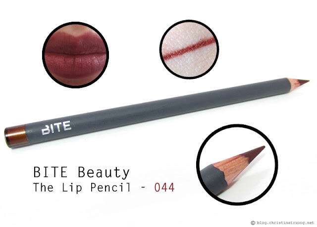 BITE Beauty The Lip Pencil in 044 first impression review and swatches.