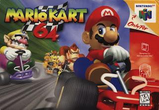 Portada del cartucho de Mario Kart 64 para la Nintendo 64