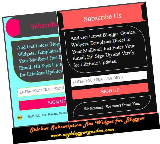 How To Add Stylish Sidebar Subscription Box Widget for Blogger